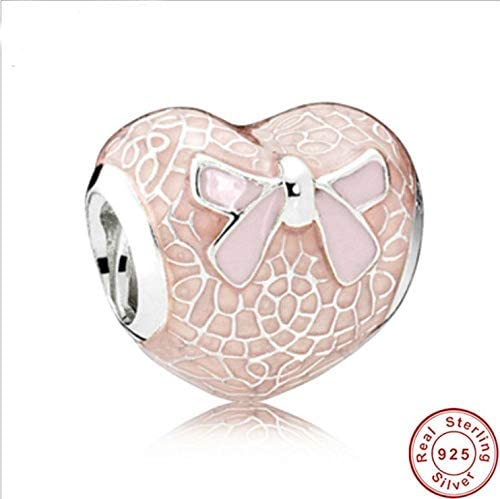 Calvas Real Promotion Authentic 925 Sterling Silver Charm Beads Fit Original Bracelet Zircon Jewelry Jewelry Butterfly Hearts