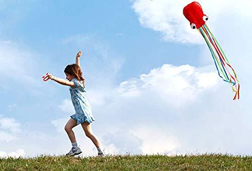 Zaptex Cometa de Pulpo Volador para niños, Actividades al Aire ...