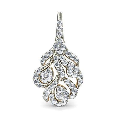 18K Or jaune 0,65CT TW White-diamond (IJ | SI) Boucles d'oreille à tige