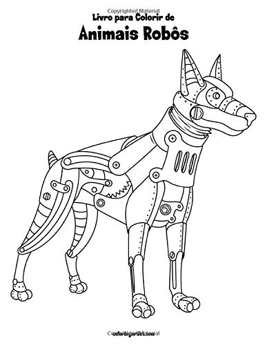 Amazon Com Livro Para Colorir De Animais Robos Portuguese