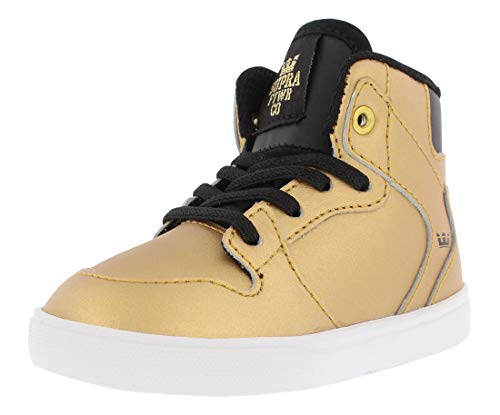 Supra Infants Toddler Vaider Gold Black White Shoes Size 10 (Supra Infant)