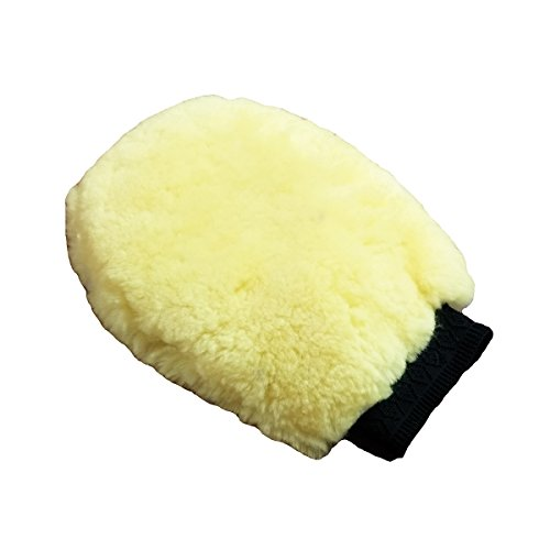 Price comparison product image OKAYDA 100% Real Lambs Wool Car Wash Mitt,  Natural Sheepskin Mitt,  High Density,  Soft,  No Scratches,  Retain No Dirty,  Suit for Car,  Glass,  Home,  Office Cleaning Beige