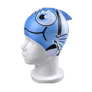 Swimming Cartoon Silicone Hat, Waterproof