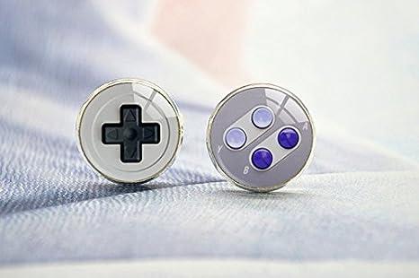 Gemelos para videojuegos, gemelos simples y fáciles, gemelos plateados, gemelos de plata, gemelos, gemelos, gemelos de boda, gemelos de camisa, gemelos de cristal, gemelos de cabujón: Amazon.es: Juguetes y juegos
