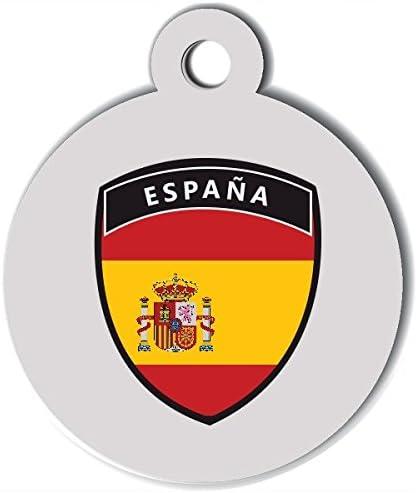 Medalla personalizable para perro España Foot: Amazon.es: Productos para mascotas