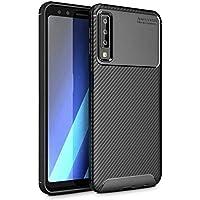 Teleplus Samsung Galaxy A7 2018 Ultra Koruma Negro Silikonlu Kılıf + Nano Ekran Koruyucu Siyah