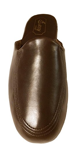 Easy Usa Heren Brown Scuff House Slippers (8)
