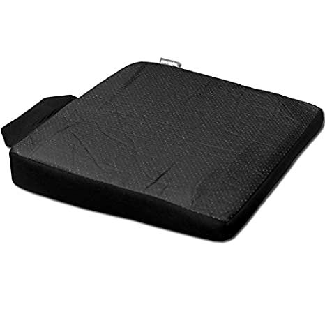 Yupbizauto New Breathable Comfortable Ergonomic Wedge Car Seat Office Chair Back Support Cushion Black Syn