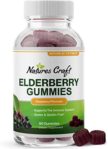Immunity Sambucus Elderberry Gummies for Adults – Black Elderberry Gummy Metabolism Booster with Zinc and Vitamin C – Anti Aging Super Antioxidant Supplement Immunity Gummies for Joint Support