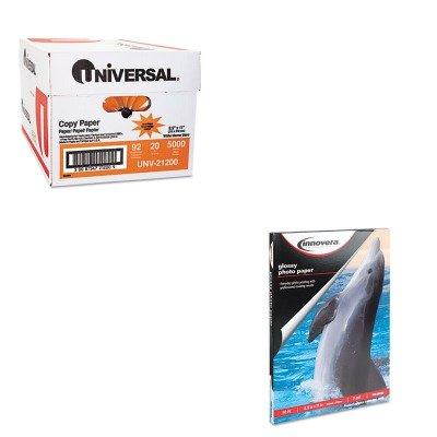 KITIVR99450UNV21200 - Value Kit - Innovera Glossy Photo Paper (IVR99450) and Universal Copy Paper (UNV21200)