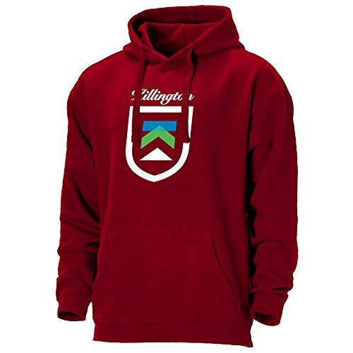 Ouray Sportswear Men's Killington Resort Benchmark Hoodie, Large, (Garnet Mens Sweatshirt)