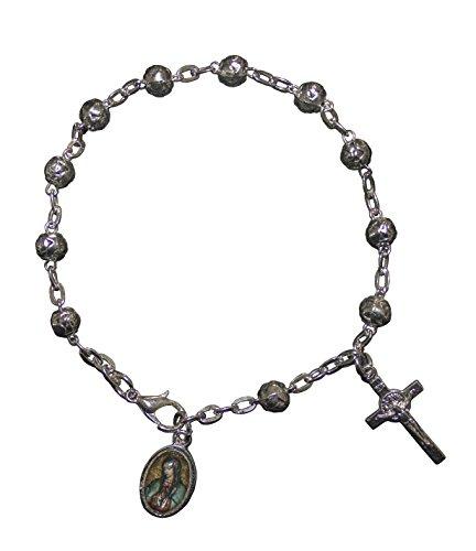 San Rafael Arcangel La Virgen de Guadalupe Bracelet Catholic Favor with Medal and Cross