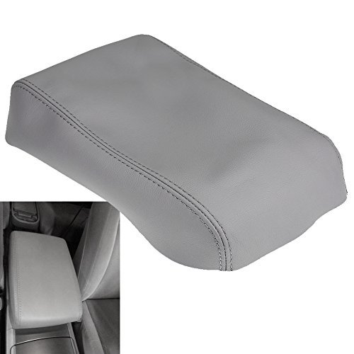 (QKPARTS Armrest Center Console Leather Synthetic Cover for Toyota Highlander Gray)