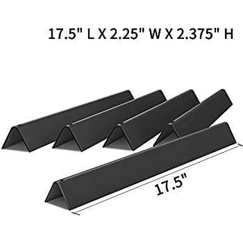 X Home 7621 17.5 inches Porcelain Steel Flavorizer Bars for Weber Genesis 300 310 E310 E330 Grills with Front-Controls, Set of 5 Flavor Bars for Weber Genesis Grill Parts Replacement