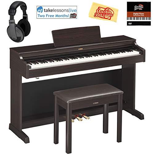 Yamaha YDP-163R Arius Console Digital Piano - Rosewood Bundl