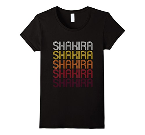 Women's Shakira Retro Wordmark Pattern - Vintage Style T-shirt Medium - Style Shakira