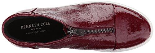 Kenneth Cole New York Kvinna Kayla Hög Topp Dragkedja Patent Mode Sneaker Vin