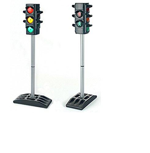 Batteriebetriebene Verkehrsampel mit Funktion. Mit manuellem oder automatischem Ampelzyklus. Ampel für Kinder / Verkehrserziehung