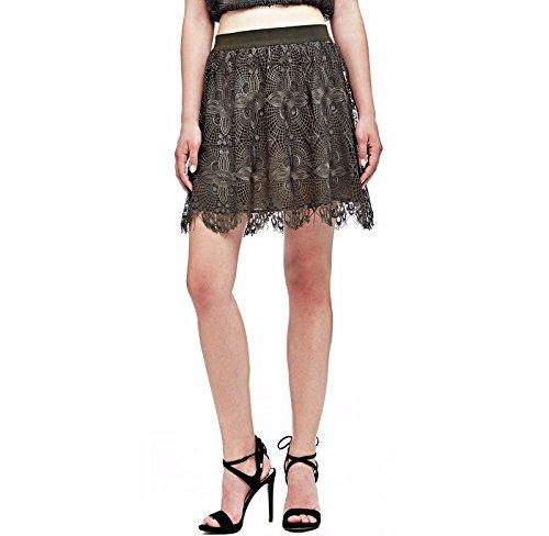 GUESS JEANS W72D89W8G90 falda corta Mujer VERDE A802