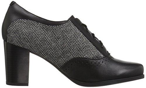 CLARKS Women's Claeson Pearl Oxford Black Combi best seller cheap online R2VELKUIk