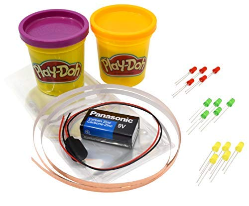 (Modeling Dough Circuit Kit - Includes Modeling Dough, Battery, LED Lights, 12