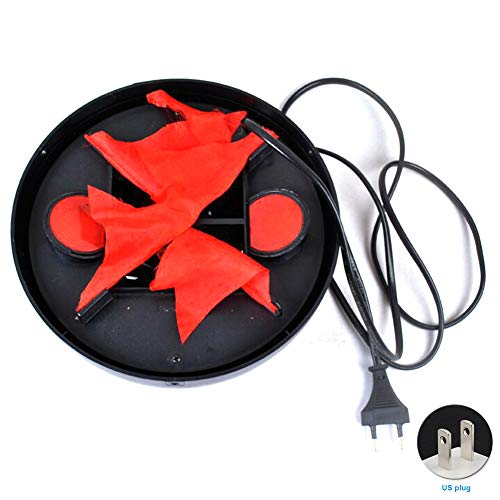 20CM Brazier Lamp,Electronic LED Flame Light Lamp Fire Flame Effect 3D DIY Fairy Lights Halloween Decorations (Black+Red) for $<!--$20.49-->