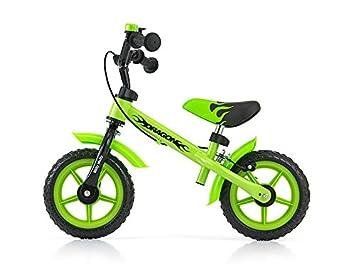 Milly Mally 0301 - Bicicleta Tipo sin Pedales para niños Ruedas de 10 Pulgadas con Frenos y Timbre: Amazon.es: Juguetes y juegos