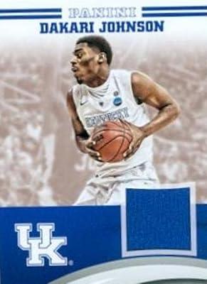 Autograph Warehouse 343679 Dakari Johnson Player Worn Jersey Patch Basketball Card - Kentucky Wildcats 2016 Panini Team Collection No. DJ-UK