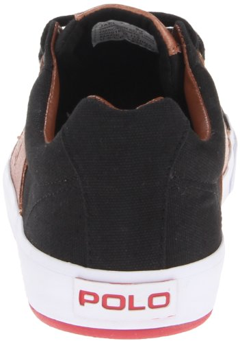 Polo Ralph Lauren Mens Jael Fashion Sneaker Polo Nero / Rosso