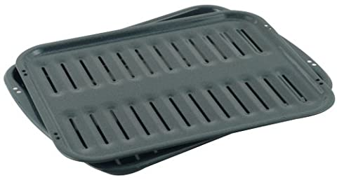 Whirlpool 4396923RW Porcelain Broiler Pan and Grid - Gas Oven Broiler