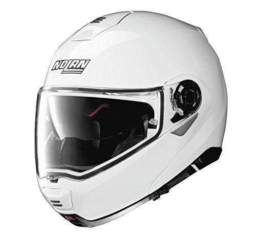 Nolan N100-5 Motorcycle Helmet Metallic White - Motorcycle Modular Nolan Helmet