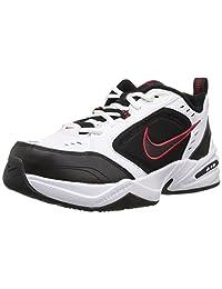 Nike Men's Air Monarch IV Athletic Shoe, White/Metallic Silver, 10.0 Regular US