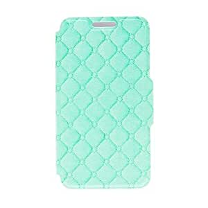 SOL Kinston Green Grid Pattern PU Leather Full Body Case with Stand for Samsung Galaxy S5 Mini