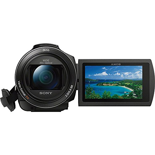 41WymUAo0RL - Sony FDR-AX53/B 4K Handycam Camcorder Deluxe Bundle includes Handycam, 55mm Filter Kit, Battery x 2, Charger, 64GB SDXC Memory Card x 2, Bag, Tripod, Card Reader/Wallet, Beach Camera Cloth and More!