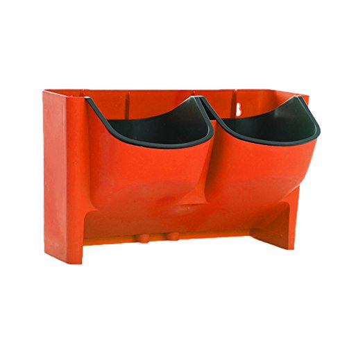 Wandofo Self Watering Flower Pot Stackable Vertical Planter Wall Hanging Durable for Garden Balcony (Red) (Wall Design Planter)