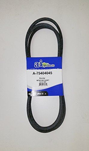 754-04045, 954-04045, Replacement belt made with Kevlar. For MTD, Cub Cadet, Troy Bilt, Black