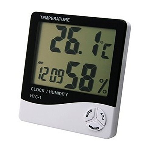 Kasstino Digital Alarm Clock LCD Indoor Hygrometer Thermometer Temperature Humidity Meter KS0294