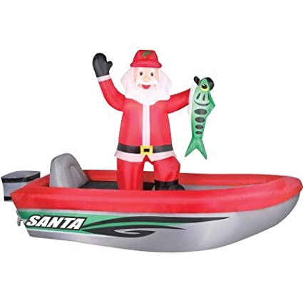 Airflowz 10 Santa In Boat Inflatable
