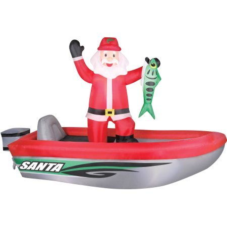 Airflowz 10' Santa in Boat Inflatable by Generic