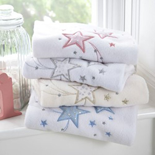 Moses//Crib//Pram Clair de Lune Stardust Fleece Blanket Blue