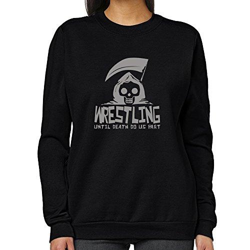 Teeburon Wrestling UNTIL DEATH SEPARATE US Women Sweatshirt by Teeburon