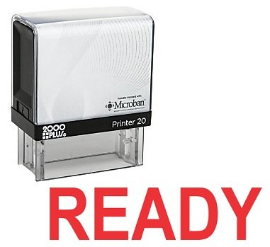 READY Office Self Inking Rubber Stamp - Red Ink (A-5366)