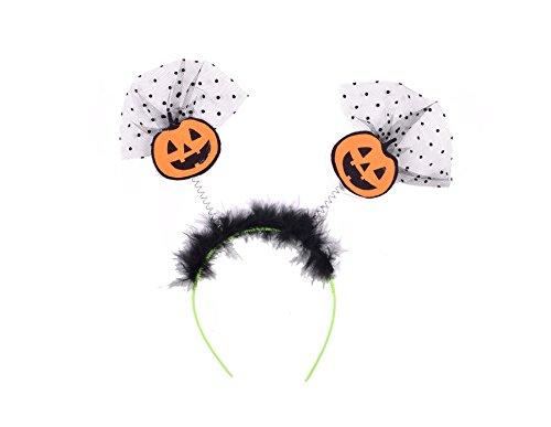 Pumpkin Headband (Orange Pumpkin Fancy Headbands Halloween Accessories Bouncy Costume Hair Bands)