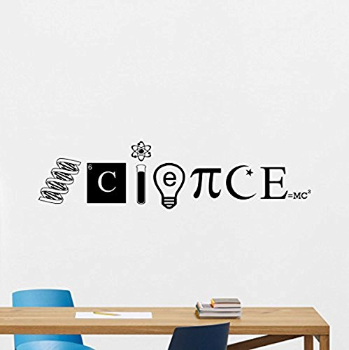 Science Wall Decal Classroom Sign Inspirational Education SSte School Sayings Motivational Gift Vinyl Sticker Bedroom Print Wall Art Design Kids Room Study Decor Chemistry Poster Custom Mural 162XVM - Chemistry Tile