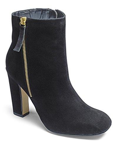 Womens Sole Diva Square Toe Boots Black, 5
