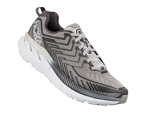 Hoka One One Zapatillas Amplias Para Correr Clifton 4, Griffin / Microchip, 12 Ee