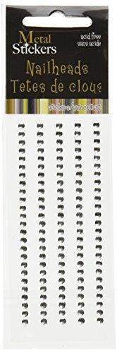 (MARK RICHARDS Metal Stickers Nailheads 3mm Round 125/Pkg,)