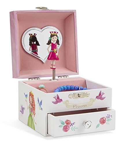 JewelKeeper Unicorn Musical Jewelry Box, Fairy Princess Castle and Hearts Design Pullout Drawer, Dance The Sugar Plum Fairy Tune (Box Music Fairy)