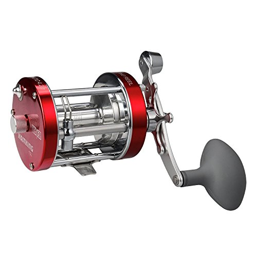 KastKing Royale Legend/Whitemax Low Profile Baitcasting Fishing Reel – 11 +1 Shielded Bearings, 17.5 Lb Carbon Fiber Drag Christmas Sale (Left Handed(Red))