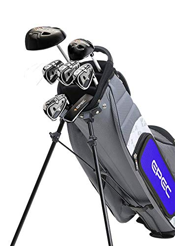 Epec Golf- EPEC Junior Set 4 Medium 7 Piece Grey/Blue [51''-53'']